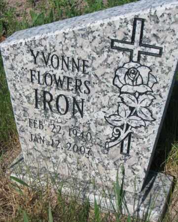 FLOWERS IRON, YVONNE - Todd County, South Dakota | YVONNE FLOWERS IRON - South Dakota Gravestone Photos