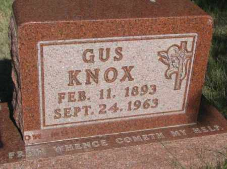 KNOX, GUS - Todd County, South Dakota | GUS KNOX - South Dakota Gravestone Photos