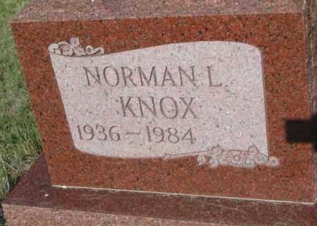 KNOX, NORMAN L. - Todd County, South Dakota | NORMAN L. KNOX - South Dakota Gravestone Photos