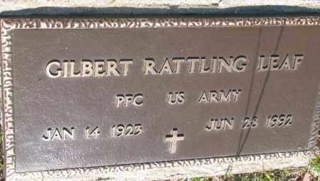 RATTLING LEAF, GILBERT - Todd County, South Dakota | GILBERT RATTLING LEAF - South Dakota Gravestone Photos