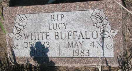 WHITE BUFFALO, LUCY - Todd County, South Dakota | LUCY WHITE BUFFALO - South Dakota Gravestone Photos