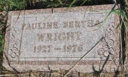 WRIGHT, PAULINE BERTHA - Todd County, South Dakota | PAULINE BERTHA WRIGHT - South Dakota Gravestone Photos