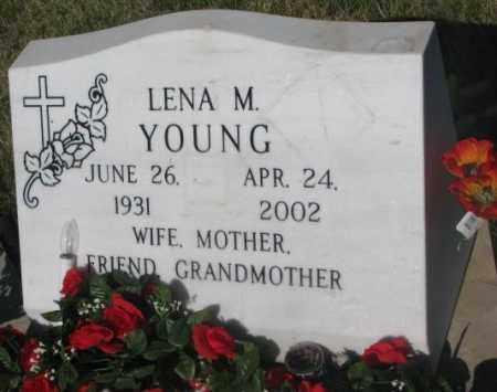 YOUNG, LENA M. - Todd County, South Dakota | LENA M. YOUNG - South Dakota Gravestone Photos