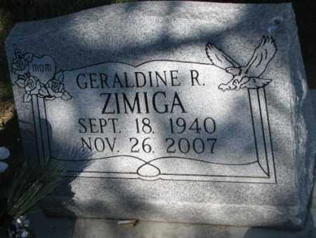 ZIMIGA, GERALDINE R. - Todd County, South Dakota | GERALDINE R. ZIMIGA - South Dakota Gravestone Photos