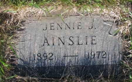 AINSLIE, JENNIE J. - Tripp County, South Dakota | JENNIE J. AINSLIE - South Dakota Gravestone Photos