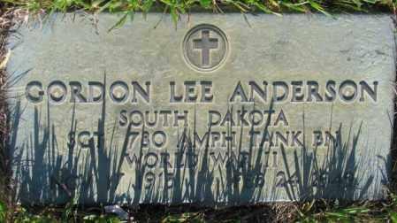 ANDERSON, GORDON LEE - Tripp County, South Dakota | GORDON LEE ANDERSON - South Dakota Gravestone Photos