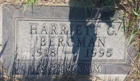 SCHRAMM BERGMAN, HARRIETT G. - Tripp County, South Dakota | HARRIETT G. SCHRAMM BERGMAN - South Dakota Gravestone Photos