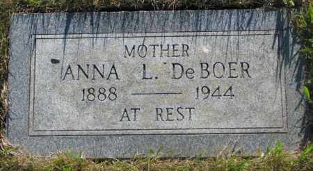 DE BOER, ANNA L. - Tripp County, South Dakota | ANNA L. DE BOER - South Dakota Gravestone Photos