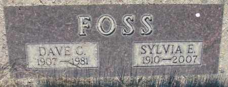 FOSS, DAVE C. - Tripp County, South Dakota | DAVE C. FOSS - South Dakota Gravestone Photos