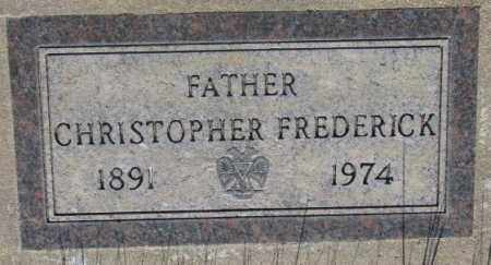 FREDERICK, CHRISTOPHER - Tripp County, South Dakota | CHRISTOPHER FREDERICK - South Dakota Gravestone Photos