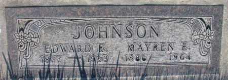 JOHNSON, EDWARD E. - Tripp County, South Dakota | EDWARD E. JOHNSON - South Dakota Gravestone Photos