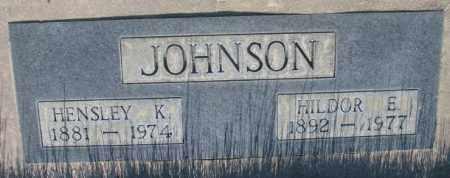 JOHNSON, HENSLEY K. - Tripp County, South Dakota | HENSLEY K. JOHNSON - South Dakota Gravestone Photos