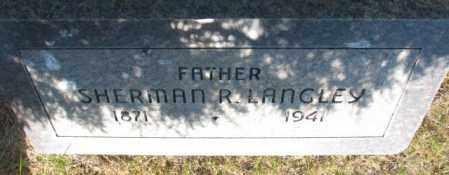 LANGLEY, SHERMAN - Tripp County, South Dakota | SHERMAN LANGLEY - South Dakota Gravestone Photos