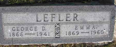 LEFLER, GEORGE D. - Tripp County, South Dakota | GEORGE D. LEFLER - South Dakota Gravestone Photos