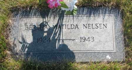 NELSEN, BERTHA MATILDA - Tripp County, South Dakota | BERTHA MATILDA NELSEN - South Dakota Gravestone Photos