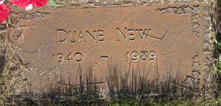 NEW, DUANE - Tripp County, South Dakota | DUANE NEW - South Dakota Gravestone Photos