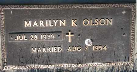 OLSON, MARILYN K. - Tripp County, South Dakota | MARILYN K. OLSON - South Dakota Gravestone Photos