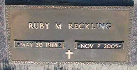 RECKLING, RUBY M. - Tripp County, South Dakota | RUBY M. RECKLING - South Dakota Gravestone Photos