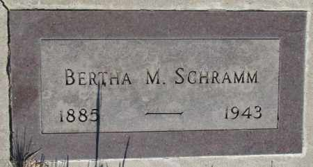 SCHRAMM, BERTHA M. - Tripp County, South Dakota | BERTHA M. SCHRAMM - South Dakota Gravestone Photos