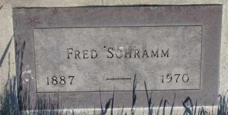 SCHRAMM, FRED - Tripp County, South Dakota   FRED SCHRAMM - South Dakota Gravestone Photos