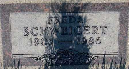 SCHWEIGERT, FREDA - Tripp County, South Dakota | FREDA SCHWEIGERT - South Dakota Gravestone Photos