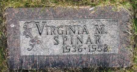 SPINAR, VIRGINIA M. - Tripp County, South Dakota   VIRGINIA M. SPINAR - South Dakota Gravestone Photos