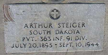 STEIGER, ARTHUR - Tripp County, South Dakota | ARTHUR STEIGER - South Dakota Gravestone Photos