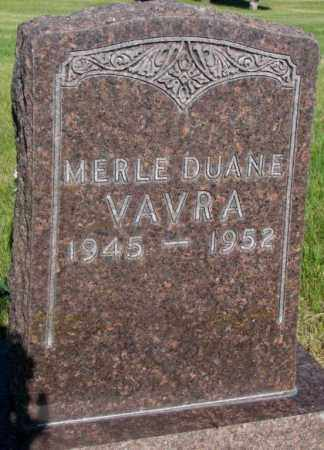 VAVRA, MERLE DUANE - Tripp County, South Dakota | MERLE DUANE VAVRA - South Dakota Gravestone Photos