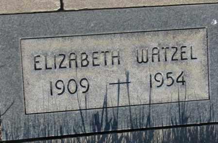 WATZEL, ELIZABETH - Tripp County, South Dakota   ELIZABETH WATZEL - South Dakota Gravestone Photos