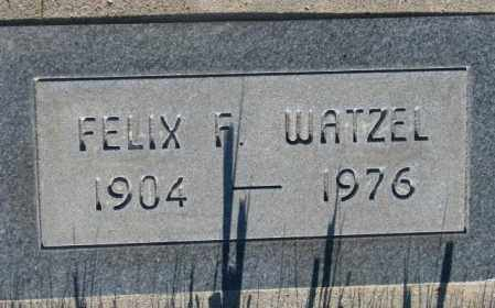 WATZEL, FELIX F. - Tripp County, South Dakota | FELIX F. WATZEL - South Dakota Gravestone Photos
