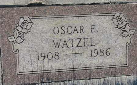 WATZEL, OSCAR E. - Tripp County, South Dakota   OSCAR E. WATZEL - South Dakota Gravestone Photos