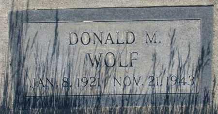 WOLF, DONALD M. - Tripp County, South Dakota | DONALD M. WOLF - South Dakota Gravestone Photos