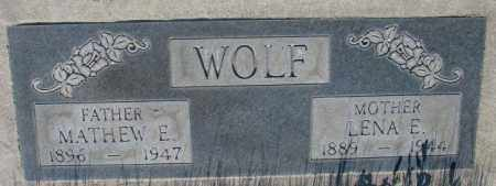WOLF, LENA E. - Tripp County, South Dakota | LENA E. WOLF - South Dakota Gravestone Photos