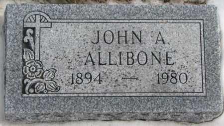 ALLIBONE, JOHN A. - Turner County, South Dakota | JOHN A. ALLIBONE - South Dakota Gravestone Photos