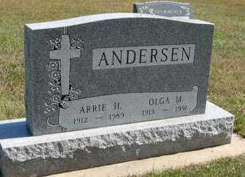 ANDERSEN, OLGA M. - Turner County, South Dakota | OLGA M. ANDERSEN - South Dakota Gravestone Photos