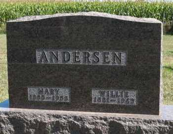ANDERSEN, WILLIE - Turner County, South Dakota | WILLIE ANDERSEN - South Dakota Gravestone Photos