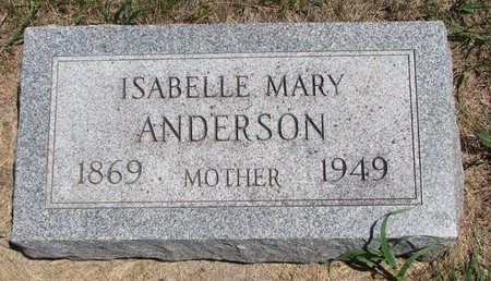 ANDERSON, ISABELLE MARY - Turner County, South Dakota   ISABELLE MARY ANDERSON - South Dakota Gravestone Photos