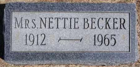 BECKER, NETTIE - Turner County, South Dakota | NETTIE BECKER - South Dakota Gravestone Photos