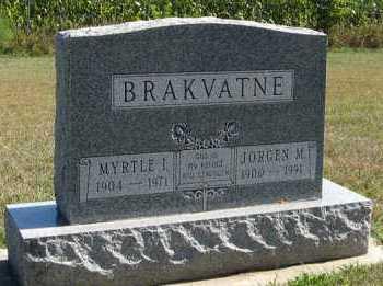 BRAKVATNE, JORGEN M. - Turner County, South Dakota | JORGEN M. BRAKVATNE - South Dakota Gravestone Photos