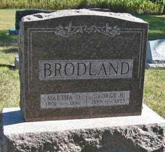 BRODLAND, GEORGE H. - Turner County, South Dakota | GEORGE H. BRODLAND - South Dakota Gravestone Photos