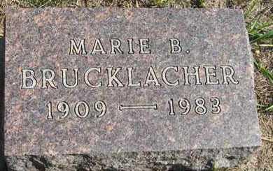 BRUCKLACHER, MARIE B. - Turner County, South Dakota | MARIE B. BRUCKLACHER - South Dakota Gravestone Photos