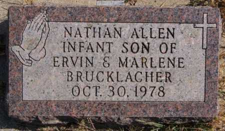 BRUCKLACHER, NATHAN ALLEN - Turner County, South Dakota | NATHAN ALLEN BRUCKLACHER - South Dakota Gravestone Photos