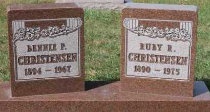 CHRISTENSEN, BENNIE P - Turner County, South Dakota | BENNIE P CHRISTENSEN - South Dakota Gravestone Photos