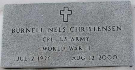CHRISTENSEN, BURNELL NELS (WWII) - Turner County, South Dakota   BURNELL NELS (WWII) CHRISTENSEN - South Dakota Gravestone Photos