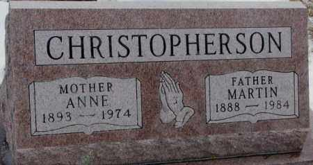 CHRISTOPHERSON, MARTIN - Turner County, South Dakota | MARTIN CHRISTOPHERSON - South Dakota Gravestone Photos
