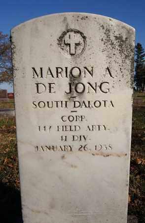 DE JONG, MARION A (MILITARY) - Turner County, South Dakota   MARION A (MILITARY) DE JONG - South Dakota Gravestone Photos
