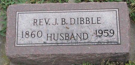 DIBBLE, JAMES BIRNEY (REV.) - Turner County, South Dakota   JAMES BIRNEY (REV.) DIBBLE - South Dakota Gravestone Photos