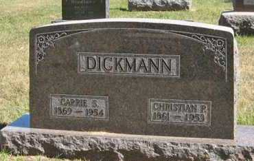 DICKMANN, CHRISTIAN P. - Turner County, South Dakota | CHRISTIAN P. DICKMANN - South Dakota Gravestone Photos