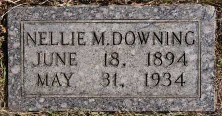 DOWNER DOWNING, NELLIE M - Turner County, South Dakota | NELLIE M DOWNER DOWNING - South Dakota Gravestone Photos