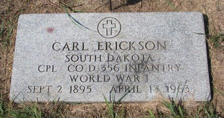 ERICKSON, CARL - Turner County, South Dakota | CARL ERICKSON - South Dakota Gravestone Photos
